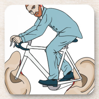 Vincent Van Gogh Riding Bike With Severed Left Ear Coasters