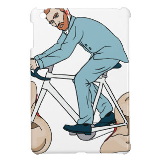 Vincent Van Gogh Riding Bike With Severed Left Ear iPad Mini Cover
