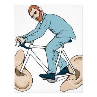 Vincent Van Gogh Riding Bike With Severed Left Ear Letterhead