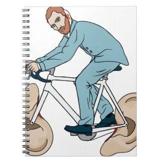 Vincent Van Gogh Riding Bike With Severed Left Ear Notebook
