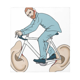 Vincent Van Gogh Riding Bike With Severed Left Ear Notepad