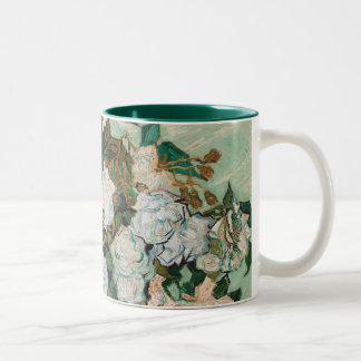 Vincent van Gogh | Roses, 1890 Two-Tone Coffee Mug