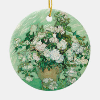 Vincent van Gogh Roses Ceramic Ornament