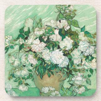 Vincent van Gogh Roses Drink Coaster