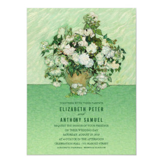 "Vincent van Gogh Roses Painting 6.5x8.75 Wedding 6.5"" X 8.75"" Invitation Card"