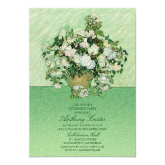Vincent van Gogh Roses Painting Retirement invite