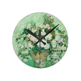 Vincent van Gogh Roses Round Clock
