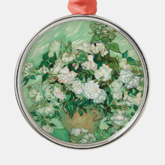 Vincent van Gogh Roses Silver-Colored Round Ornament