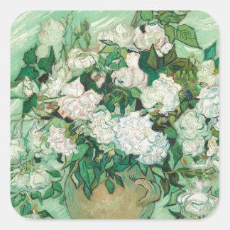 Vincent van Gogh Roses Square Sticker