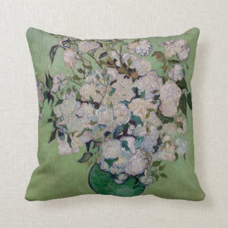 Vincent van Gogh Roses Throw Pillow
