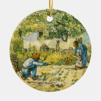 Vincent van Gogh Round Ceramic Ornament