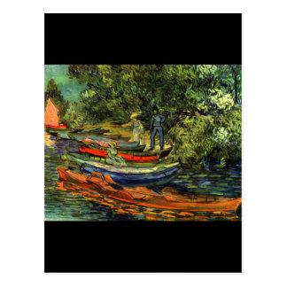 Vincent Van Gogh Rowing Boats Postcard