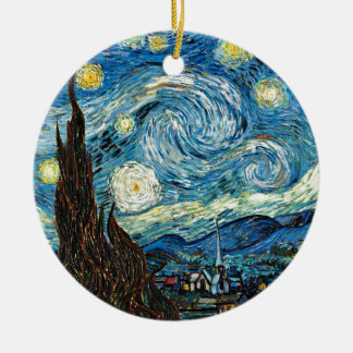 Vincent Van Gogh's Starry Night Ceramic Ornament