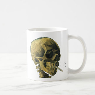 Vincent Van Gogh - Scull with Cigarette Classic White Coffee Mug