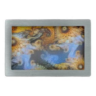 Vincent Van Gogh Seahorse Valley Mandelbrot Zoom Belt Buckles