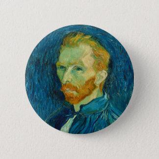 Vincent van Gogh Self Portrait 1889 Painting 2 Inch Round Button