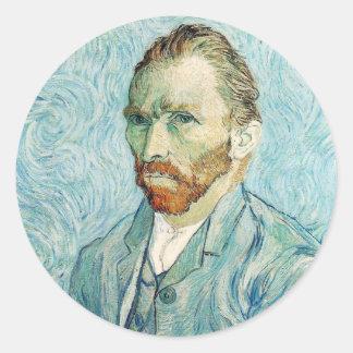 Vincent Van Gogh Self-Portrait Classic Round Sticker