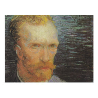 Vincent VAn Gogh Self Portrait grey Postcard