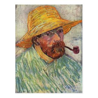 Vincent Van Gogh Self Portrait Pipe Postcard