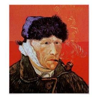 Vincent Van Gogh - Self Portrait With Bandaged Ear Poster