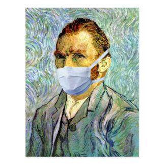 Vincent Van Gogh Self Portrait With Mask Spoof Postcard