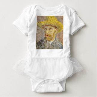 Vincent Van Gogh Self Portrait with Straw Hat Art Baby Bodysuit
