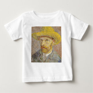 Vincent Van Gogh Self Portrait with Straw Hat Art Baby T-Shirt
