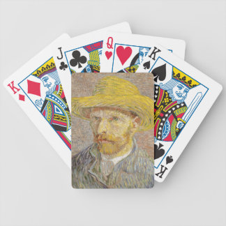 Vincent Van Gogh Self Portrait with Straw Hat Art Bicycle Playing Cards