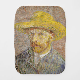 Vincent Van Gogh Self Portrait with Straw Hat Art Burp Cloth