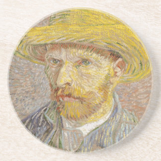 Vincent Van Gogh Self Portrait with Straw Hat Art Coaster
