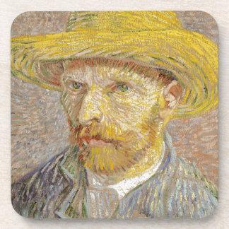 Vincent Van Gogh Self Portrait with Straw Hat Art Coaster