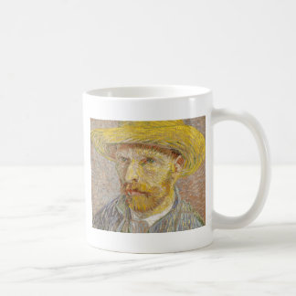 Vincent Van Gogh Self Portrait with Straw Hat Art Coffee Mug