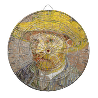 Vincent Van Gogh Self Portrait with Straw Hat Art Dartboard
