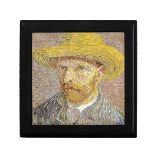 Vincent Van Gogh Self Portrait with Straw Hat Art Gift Box