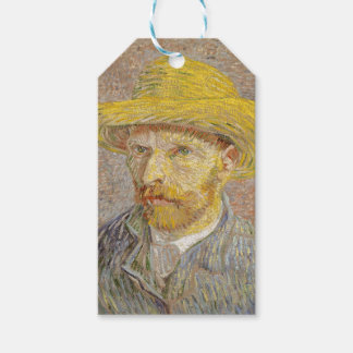 Vincent Van Gogh Self Portrait with Straw Hat Art Gift Tags
