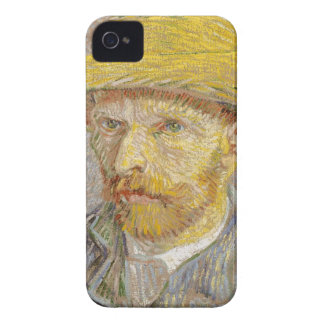 Vincent Van Gogh Self Portrait with Straw Hat Art iPhone 4 Case-Mate Case