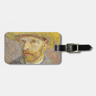 Vincent Van Gogh Self Portrait with Straw Hat Art Luggage Tag
