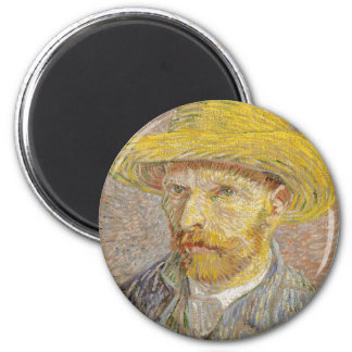 Vincent Van Gogh Self Portrait with Straw Hat Art Magnet
