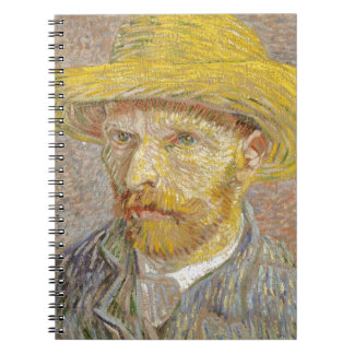 Vincent Van Gogh Self Portrait with Straw Hat Art Notebook