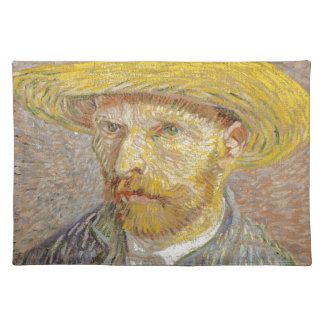 Vincent Van Gogh Self Portrait with Straw Hat Art Placemat