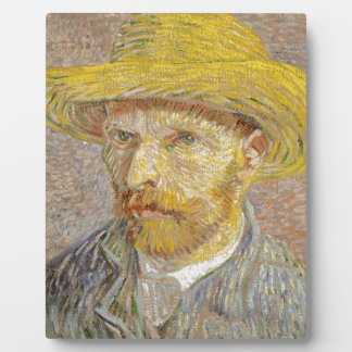 Vincent Van Gogh Self Portrait with Straw Hat Art Plaque