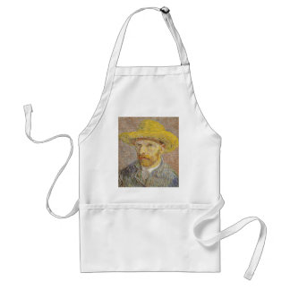 Vincent Van Gogh Self Portrait with Straw Hat Art Standard Apron