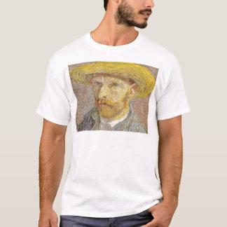 Vincent Van Gogh Self Portrait with Straw Hat Art T-Shirt