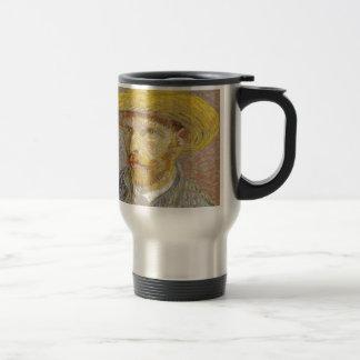 Vincent Van Gogh Self Portrait with Straw Hat Art Travel Mug