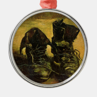 Vincent Van Gogh Shoes Silver-Colored Round Ornament