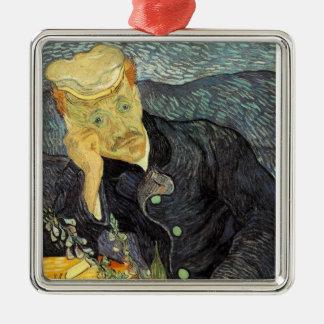 Vincent van Gogh Silver-Colored Square Ornament