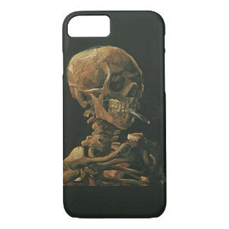 Vincent van Gogh Skull Smoking Cigarette iPhone 7 Case