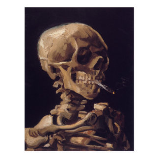 Vincent Van Gogh Skull with a Burning Cigarette Postcard