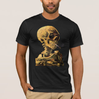 Vincent Van Gogh - Skull With Burning Cigarette T-Shirt