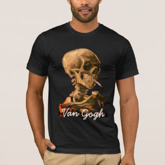 VinCent van Gogh Smoking Skull T-Shirt